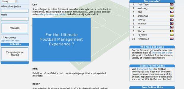 Brusel – Poměř své manažerské schopnosti s manažery z celého světa v belgickém on-line fotbalovém manažeru z roku 2004 Soccer Project kompletně přeloženém do češtiny a s početnou českou základnou […]